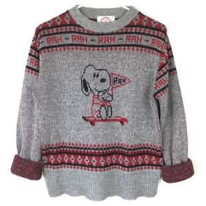 Vintage snoopy peanuts knitted sweater size small